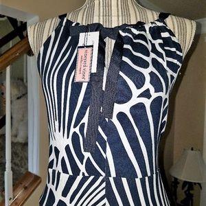 Vineyard Vines Navy & White Maxi Dress